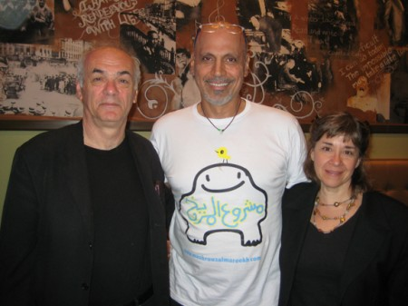 Endre Farkas, Andy Shallal and Carolyn Marie Souaid at Busboys and Poets.