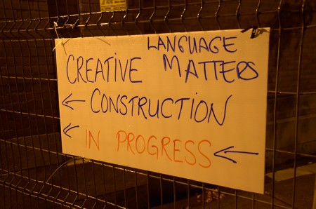 Language Matters sign