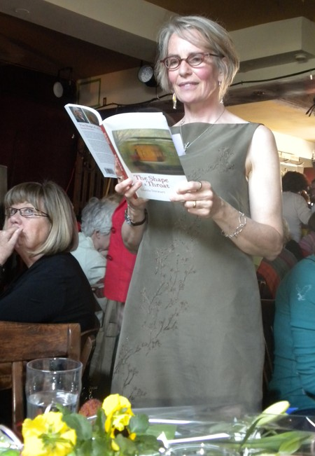 Sheila Stewart with her new book, <i>The Shape of a Throat</i>