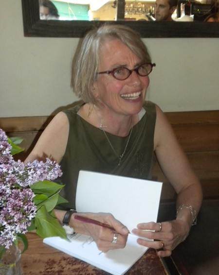 Sheila Stewart signs copies of her new book, <i>The Shape of a Throat</i>