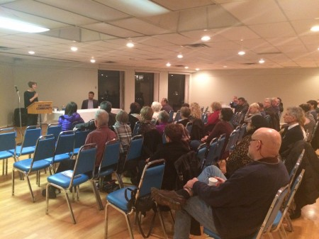 Stella Harvey presenting at the Vancouver Hellenic Community Centre