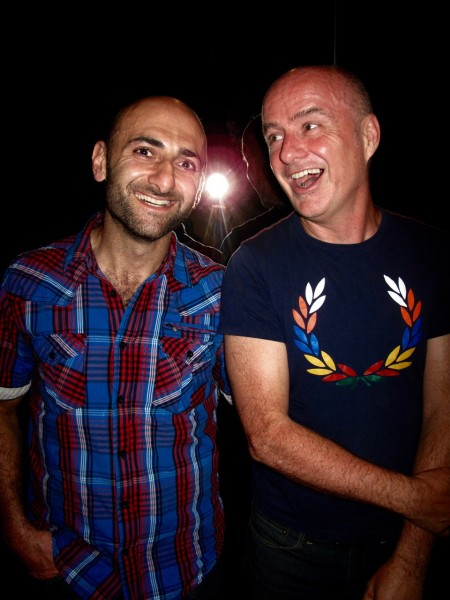 Poet/Tightrope publisher JIM NASON (right, pictured here with Michael) joins a queer poetry marathon of Proud Voices at Glad Day, Monday June 27th 8PM Read Jim's new collection TOUCH ANYWHERE TO BEGIN from Signature Editions. Photo: KIRBY
