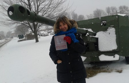 Carolyn Marie Souaid outside the Military College